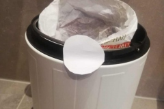 Brottüte als Müllbeutel